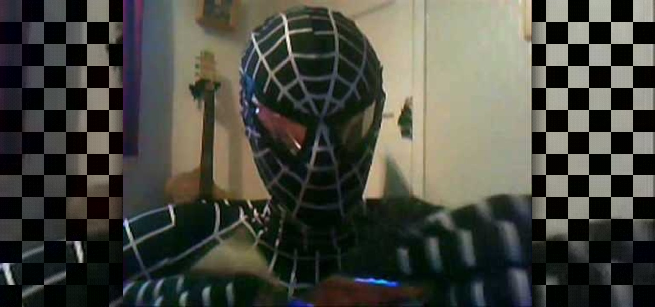 How To Make And Attach Lenses A Mask For Spider Man Costume Sewing Embroidery WonderHowTo