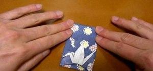 Origami a crane pouch
