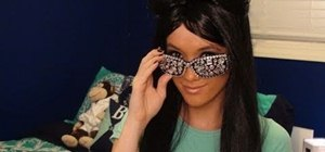 Be Snooki from Jersey Shore for Halloween (hair, makeup & rhinestone glasses)