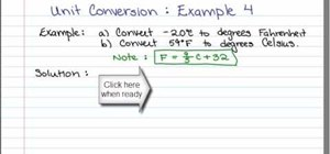 Convert  Fahrenheit to Celsius with a formula