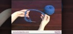 Knit in the round using a fixed circular needle