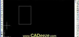Draw circles and rectangles in AutoCAD 2008