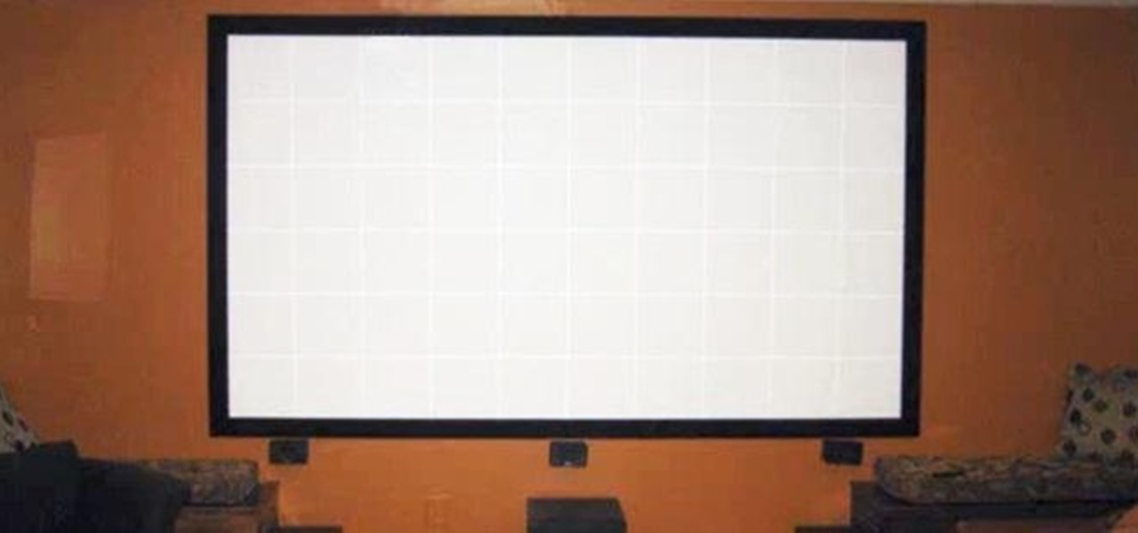 Build Your Own Projector Screen at Home for Less Than Fifty Bucks