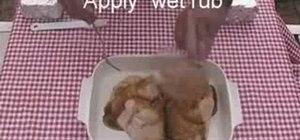 Barbecue brick chicken