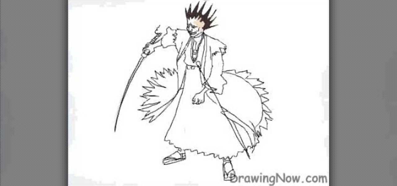 How To Draw Kenpachi From Magna Series Bleach Drawing Illustration WonderHowTo