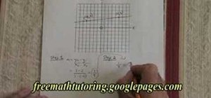 Derive the equation of a straight line