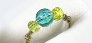 Make a simple wire and beads ring with your kids