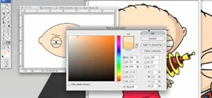 Create Stewie Griffin's head in Photoshop