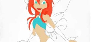 Draw Bloom from Winx Club