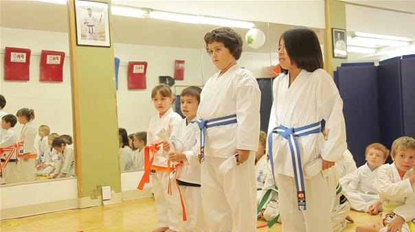 Getting Their Orange and Blue Belts
