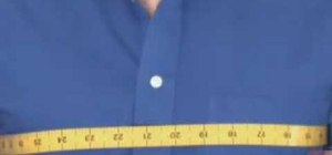 Measure for a custom tailored dress shirt