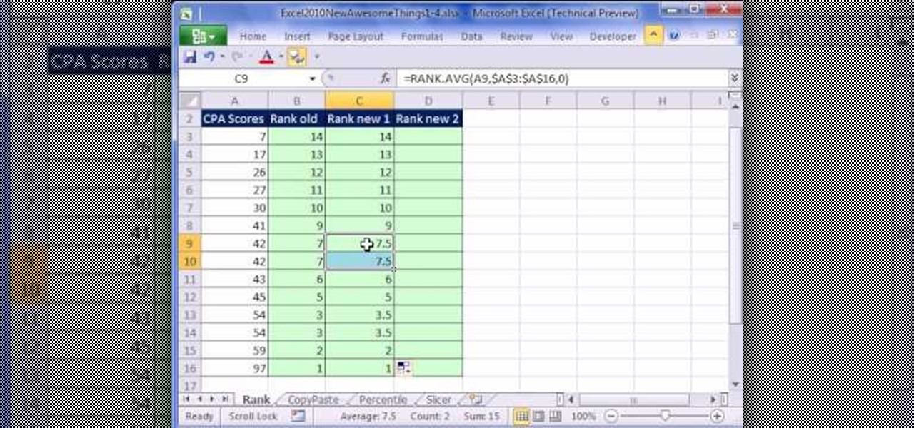 calculate winning percentage with ties in excel