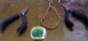 Make a Ming clay pendant necklace on a leather cord