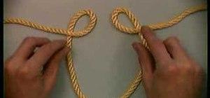 Tie an Alpine butterfly knot