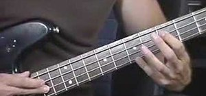 Learn how to play the bass using tapping techniques