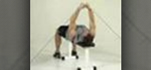 Tone your chest with a cable lying-fly exercise