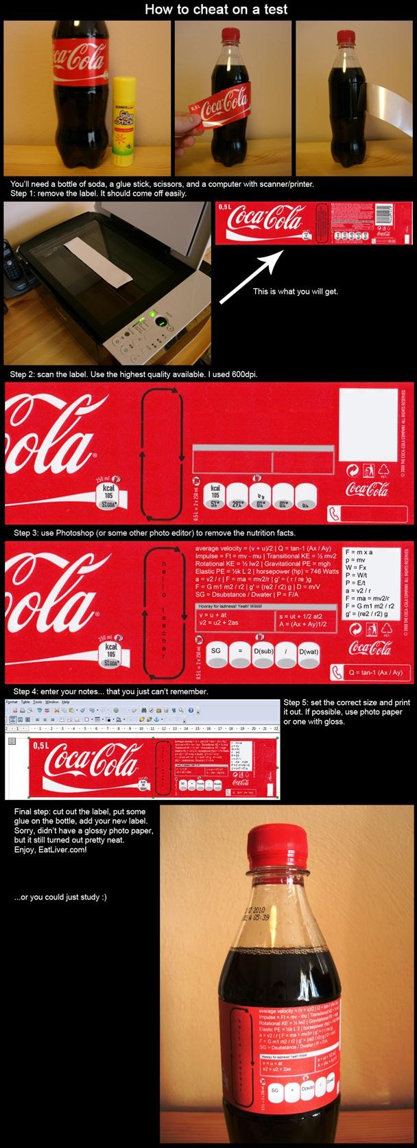 Cheat at Your Own Risk: Coca-Cola Crib Sheet