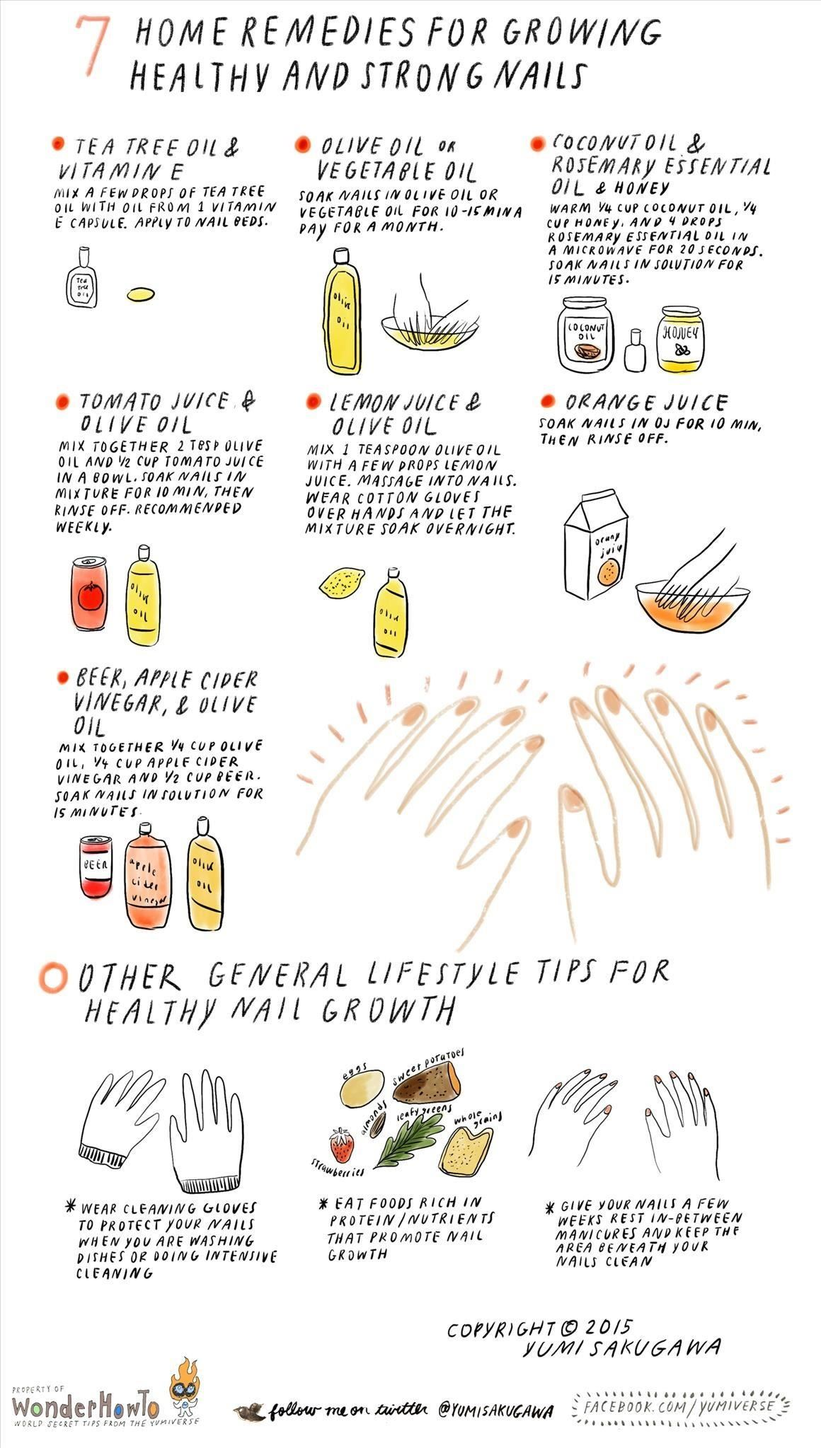 7 Home Remedies For Growing Healthy Strong Nails The Secret Yumiverse WonderHowTo