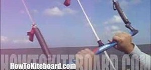 Use a stopper ball on a kiteboarding bar