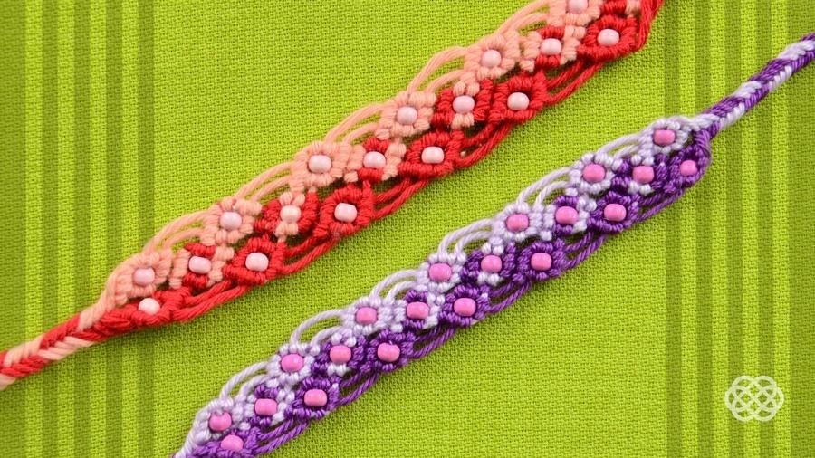 Two Color Macrame Bracelet with Beads - Tutorial