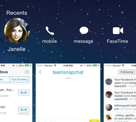 How to delete recents on iphone 6