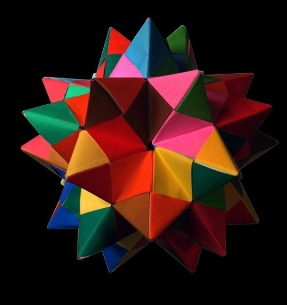 Modular Origami: How to Make a Truncated Icosahedron, Pentakis ...