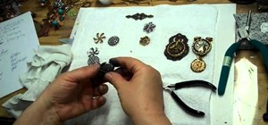 Create Steampunk rings with Gilder's Paste and Adirondack paint
