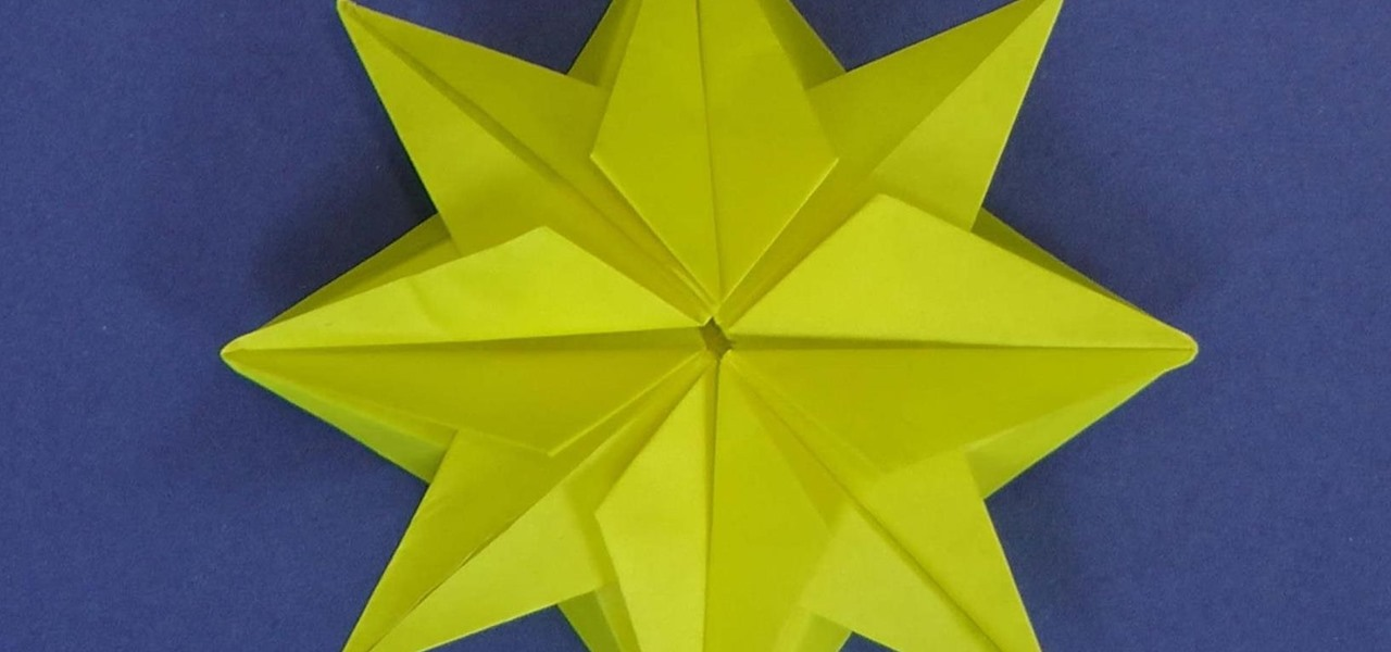 Make an Origami Christmas Star