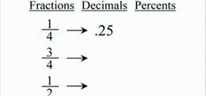 Change fractions to decimals to percents