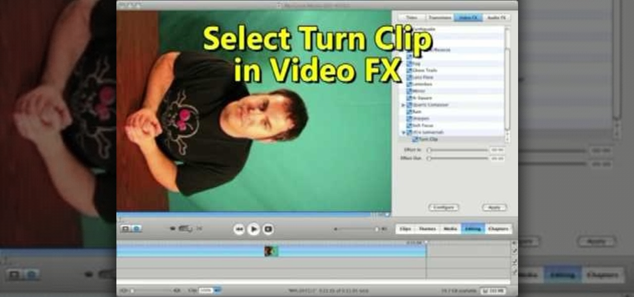 Editing video editing editing wonderhowto how to rotate a video clip using imovie hd ccuart Gallery
