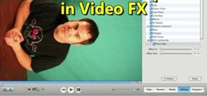 Rotate a video clip using iMovie HD