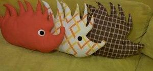 Make a hedgehog plushie