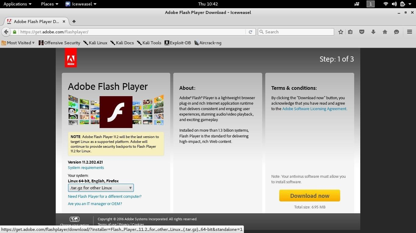 Flashplayer How To Install Flash On Kali Linux 20 Rolling « Null Byte