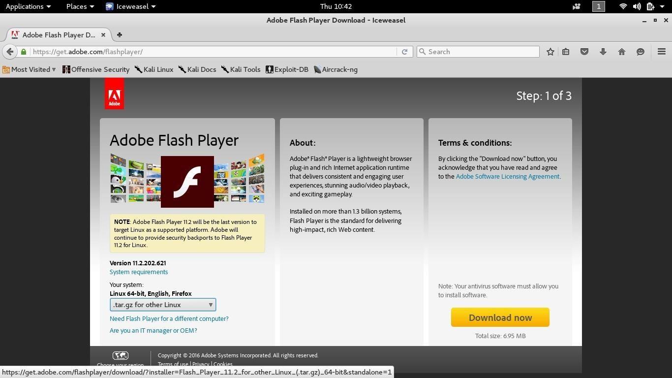 how to install flash on kali linux 2 0 rolling null byte rh null byte wonderhowto com Adobe Flash Player Windows 7 Latest Adobe Flash Player 12