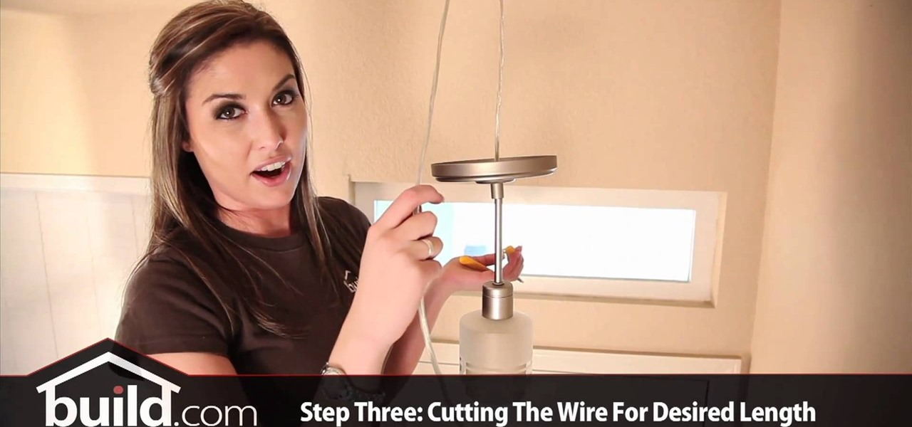 How to Replace and install a pendant lighting fixture « Plumbing ...
