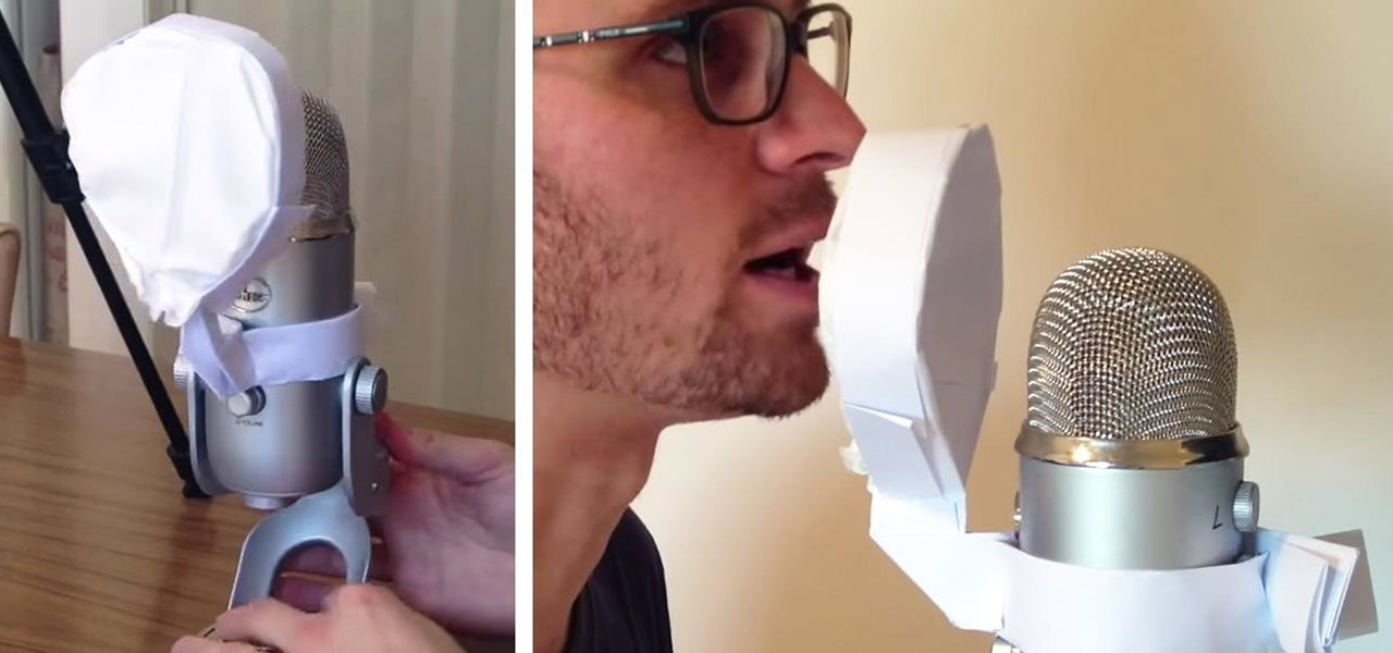 Make a Free Microphone Pop Filter Entirely Out of Paper in 5 Minutes