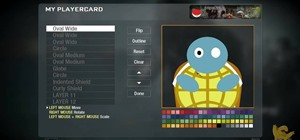 Draw a Squirtle Pokémon playercard emblem in the Black Ops emblem editor