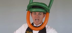 Twist a Simple Leprechaun Balloon Hat for St. Patrick's Day