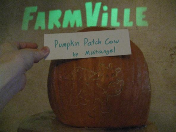 Katie's FarmVille Themed Pumpkin Patch Cow