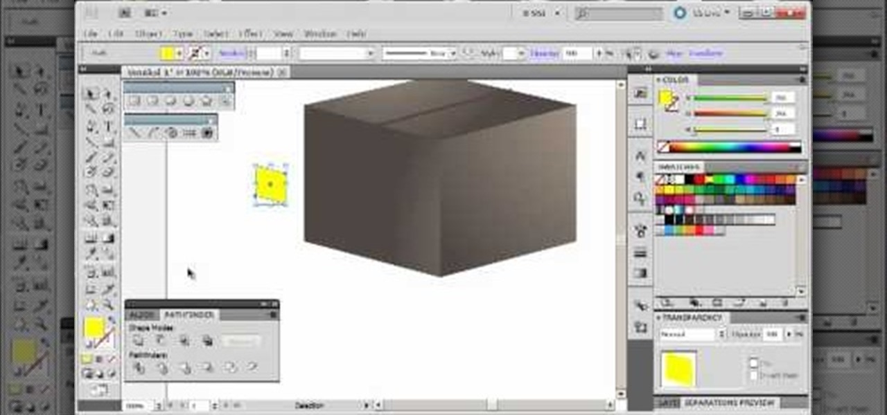 how to draw a 3d box in illustrator