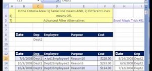 Use macro and advanced filters in Microsoft Excel