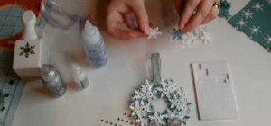 Make a handmade snowflake wreath ornament