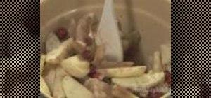 Make apple berry crisp dessert