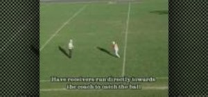 Practice team passing football drills