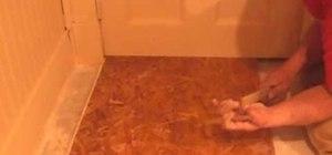 Install Dry Core basement sub floor
