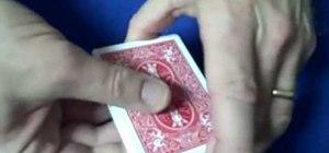 Perform the quick flip card trick
