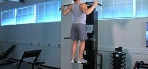 Practice fast Gravitron wide grip pull ups