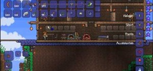 Craft hellstone bricks and thorn chakrum in Terraria