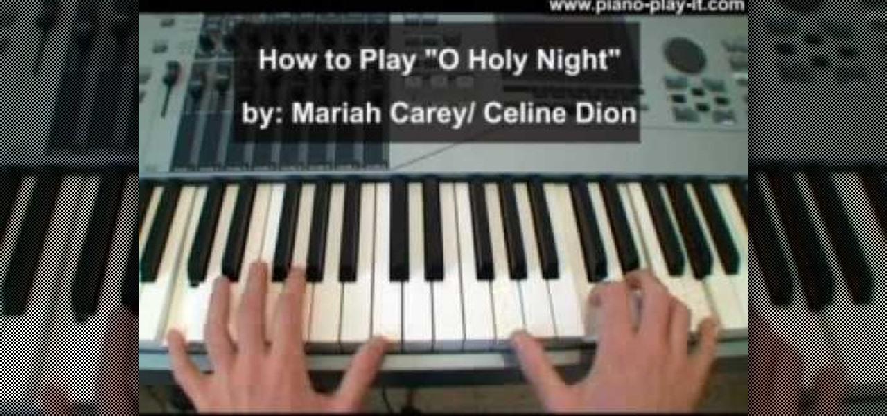 How To Play O Holy Night By Mariah Carey On Piano Piano