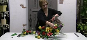 Make a silk flower door wreath